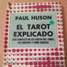 Livres d'occasion: EL TAROT EXPLICADO (PAUL HUSON). Lote 194588638