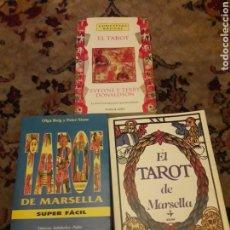 Libros de segunda mano: TRES LIBROS DE TAROT. Lote 192494925