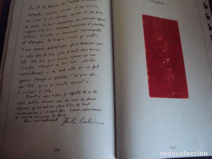 Libros de segunda mano: (LI-200210)CALVINO,ITALO. (TEXTO DE) Milán,1986. 1ª edición. 3000 ejemplares numerados, nº0412. - Foto 17 - 193797280