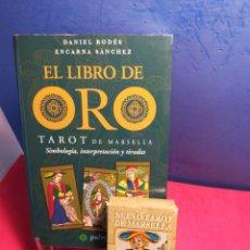 Libros de segunda mano: EL LIBRO DE ORO DEL TAROT DE MARSELLA + NUEVO TAROT DE MARSELLA (CARTAS PRECINTADAS). Lote 196772065