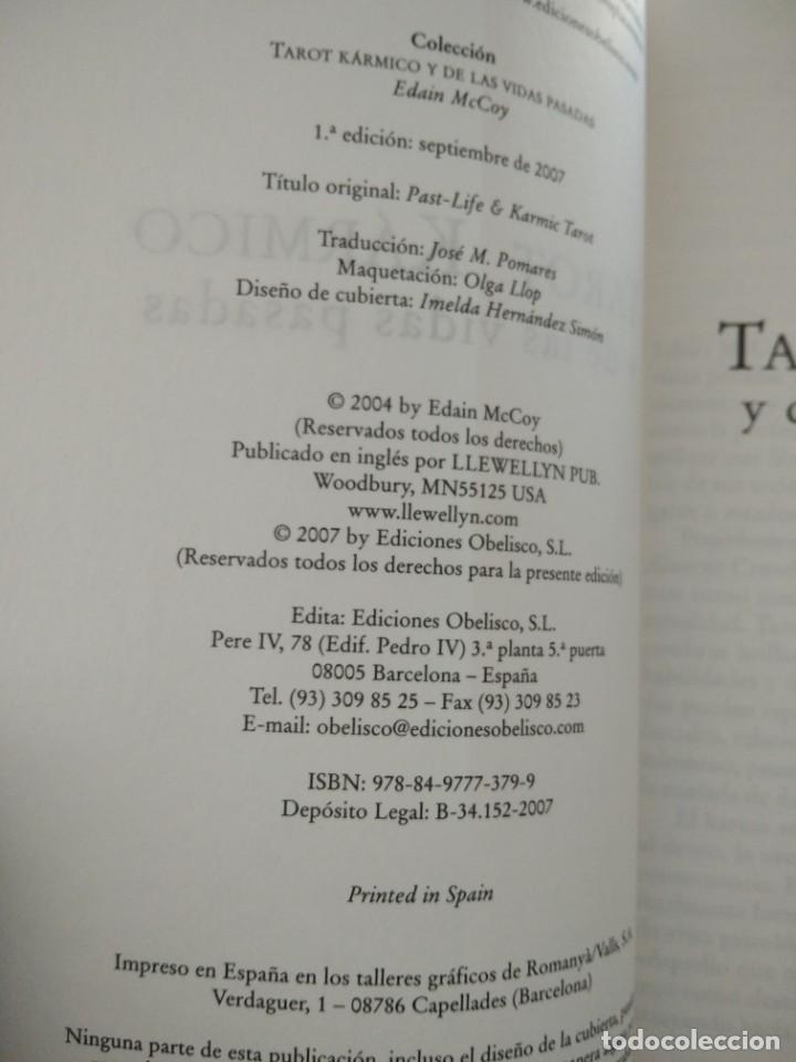 Libros de segunda mano: TAROT KARMICO-Y DE LAS VIDAS PASADAS-EDAIN McCOY-EDICIONES OBELISCO-1ª EDICION 2007 - Foto 5 - 196802353