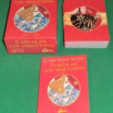 Libros de segunda mano: CARTAS DE LOS ARQUETIPOS - CAROLINE MYSS (IMPECABLE) DE COLECCIONISTA...SIN USAR. Lote 197887438