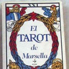 Libros de segunda mano: EL TAROT DE MARSELLA - PAUL MARTEAU - LA TABLA DE ESMERALDA - EDAF 2010 - VER. Lote 204268245