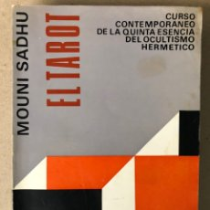 Libros de segunda mano: EL TAROT. MOUNI SADHU. EDITORIAL KIER 1964 (1ªEDICIÓN). CURSO DE OCULTISMO HERMÉTICO.. Lote 208469860