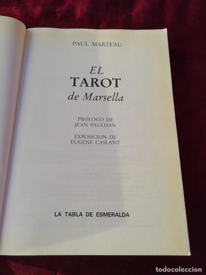 Libros de segunda mano: El tarot de Marsella. La tabla de Esmeralda. Paul Marteau - Foto 2 - 210237003