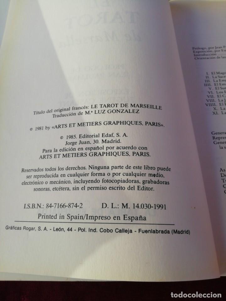 Libros de segunda mano: El tarot de Marsella. La tabla de Esmeralda. Paul Marteau - Foto 3 - 210237003
