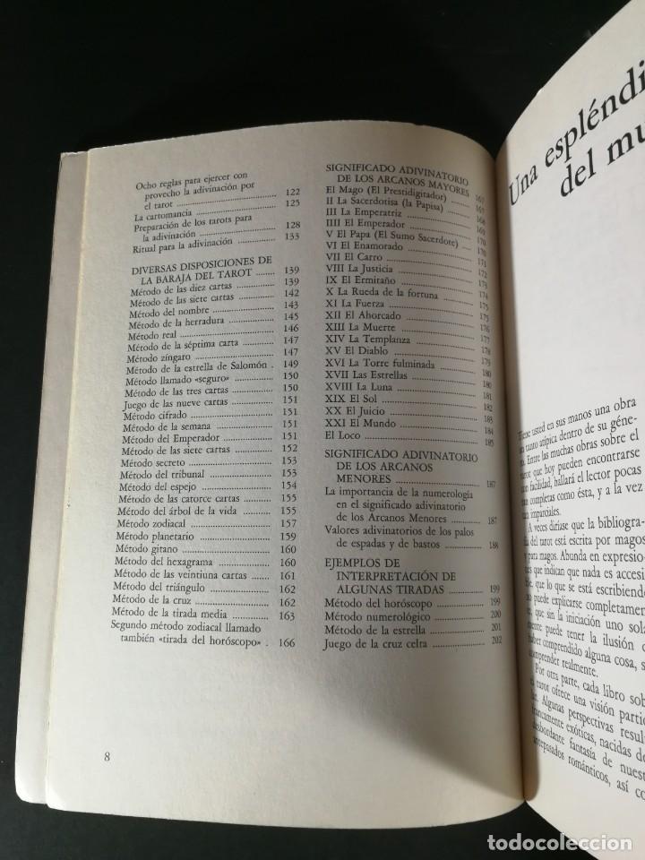 Libros de segunda mano: El gran libro práctico del Tarot - Evolución - Significado - Prácticas Adivinatorias - Osiris - 1991 - Foto 4 - 221990466