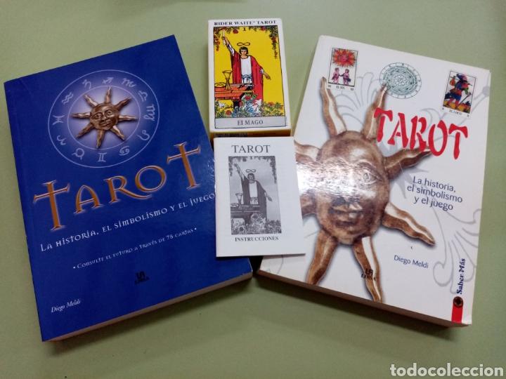 LOTE TAROT - 2 LIBROS DE DIEGO MELDI Y BARAJA RIDER WAITE (Libros de Segunda Mano - Parapsicología y Esoterismo - Tarot)