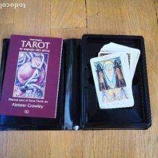 Livres d'occasion: TAROT THOT DE ALEISTER CROWLEY + SU MANUEL TAROT EL ESPEJO DEL ALMA POR GERD ZIEGLER.. Lote 231424680