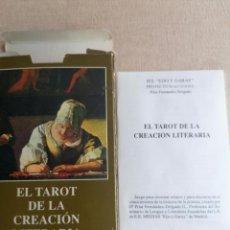 Libros de segunda mano: EL TAROT DE LA CREACIÓN LITERARIA. 89 CARTAS. EN CAJA. BUEN ESTADO.. Lote 245726790