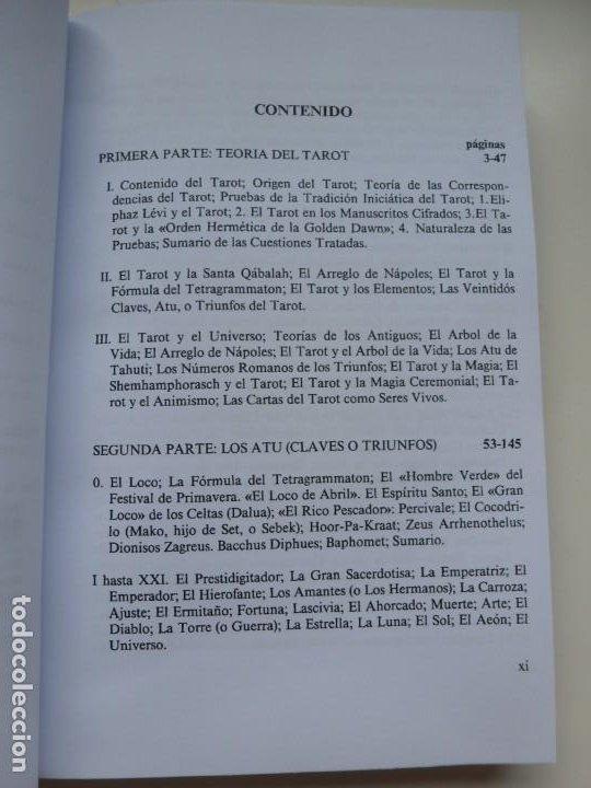 Libros de segunda mano: EL LIBRO DE THOTH. TAROT EGIPCIO. ALEISTER CROWLEY. LUIS CÁRCAMO EDITOR 2006 - Foto 5 - 246072195