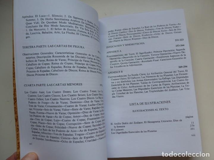 Libros de segunda mano: EL LIBRO DE THOTH. TAROT EGIPCIO. ALEISTER CROWLEY. LUIS CÁRCAMO EDITOR 2006 - Foto 6 - 246072195