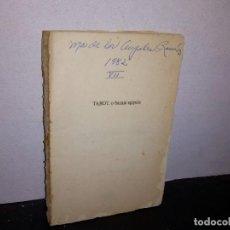 Libros de segunda mano: 7- TAROT O BARAJA EGIPCIA - RODOLFO BENAVIDES. Lote 268886889