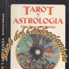 Libros de segunda mano: TAROT Y ASTROLOGIA COMO CONOCER EL DESTINO, MURIEL BRUCE HASBRONCK, EDAF, LA TABLA DE ESMERALDA,1990. Lote 269647898