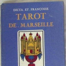 Libros de segunda mano: TAROT DE MARSEILLE - DICTA ET FRANÇOISE - MERCURE DE FRANCE 1980 - VER INDICE. Lote 270209498