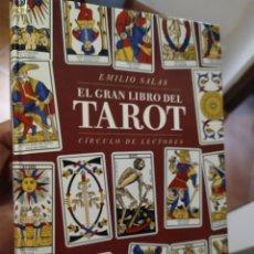 Libros de segunda mano: EL GRAN LIBRO DEL TAROT EMILIO SALAS MUY ILUSTRADO TAPA DURA. Lote 270251188