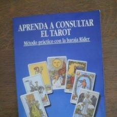 Libros de segunda mano: APRENDA A CONSULTAR EL TAROT.. Lote 291457488