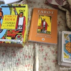 Libros de segunda mano: TAROT MÁS LIBRO RIDER WAITE. Lote 294553793