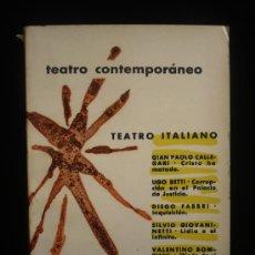 Libros de segunda mano: TEATRO CONTEMPORANEO. TEATRO ITALIANO. AGUILAR. 1961 1ED. INTONSO. 485 PAG-. Lote 16700899