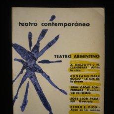 Libros de segunda mano: TEATRO CONTEMPORANEO. TEATRO ARGENTINO. AGUILAR. . 1959 1ED. INTONSO. 485 PAG-. Lote 16700904