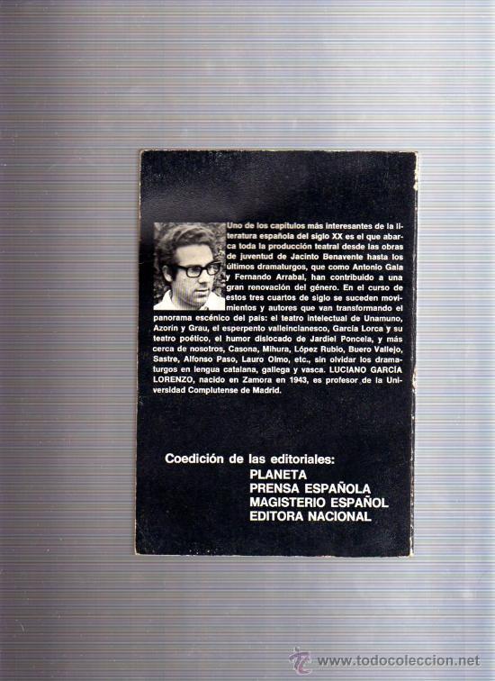 Libros de segunda mano: El teatro español hoy (Luciano Garcia Lorenzo) 1.975 - Foto 2 - 9553857