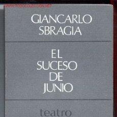 Libros de segunda mano: EL SUCESO DE JUNIO-GIANCARLO SBRAGIA-CUADERNOS PARA EL DIÁLOGO,1968 (TEATRO,MATTEOTTI).ENVÍO: 2,50€*. Lote 26147868