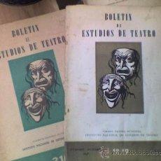 Libros de segunda mano: 2 BOLETINES DE ESTUDIOS DE TEATRO DE BUENOS AIRES - AÑOS 1947 Y 1950 !!!! INTEGROS. Lote 27434785