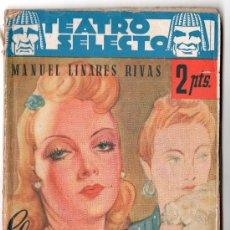Libros de segunda mano: TEATRO SELECTO Nº 73.EL ROSAL DE LAS TRES ROSAS. EDITORIAL CISNE. BARCELONA FEBRERO 1943. Lote 14831629