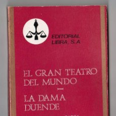 Libros de segunda mano: COLECCION PURPURA Nº 20. EL GRAN TEATRO DEL MUNDO POR CALEDRON DE LA BARCA.EDITORIAL LIBRA. 1970. Lote 15338058
