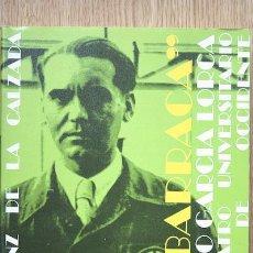 """Libros de segunda mano: """"LA BARRACA"""". TEATRO UNIVERSITARIO. PRÓLOGO DE RAFAEL MARTÍNEZ NADAL. SÁENZ DE LA CALZADA (LUIS). Lote 24041295"""