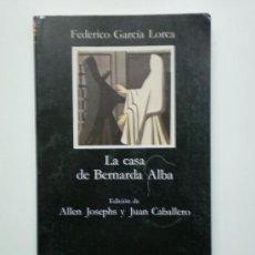 Libros de segunda mano: LA CASA DE BERNARDA ALBA. Lote 19520457