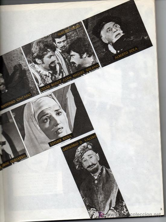 Libros de segunda mano: FOTO TEATRO - DON JUAN TENORIO - 1968 - Foto 4 - 25111174