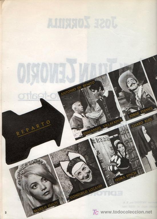 Libros de segunda mano: FOTO TEATRO - DON JUAN TENORIO - 1968 - Foto 3 - 25111174