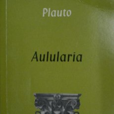 Second hand books - AULULARIA. PLAUTO. 2002 - 25051822