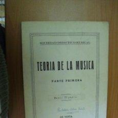 Libros de segunda mano: LIBRETO OBRA MUSICAL TEORIA DE LA MUSICA 1º PARTE 1958. Lote 25360481