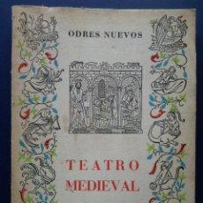 Libros de segunda mano: TEATRO MEDIEVAL - FERNANDO LAZARO CARRETER - TERCERA EDICION - EDITORIAL CASTALIA - 1970. Lote 25903930