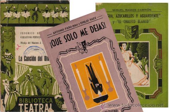 LOTE 3X1 BIBLIOTECA TEATRAL_F. SHAW / RAMOS CARRIÓN / PASO. (LOT 1,2 Y 3) (Libros de Segunda Mano (posteriores a 1936) - Literatura - Teatro)