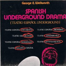 Libros de segunda mano: SPANISH UNDERGROUNG DRAMA - EDITORIAL VILLALAR - 1978 - M. Lote 28790707