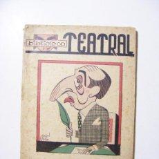 Libros de segunda mano: GENTE DE BULLA, BIBLIOTECA TEATRAL, JOSE TELLAECHE, 1941. Lote 29072803
