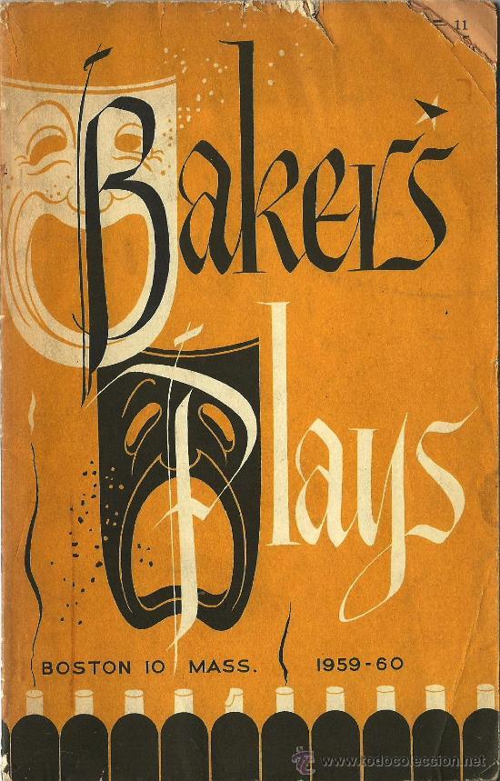 CATÁLOGO TEATRO BACKER´S PLAYS – 1959-60 * BIBLIOGRAFÍA * (Libros de Segunda Mano (posteriores a 1936) - Literatura - Teatro)