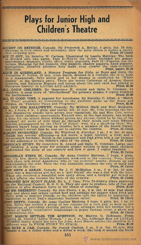 Libros de segunda mano: Catálogo teatro Backer´s Plays – 1959-60 * BIBLIOGRAFÍA * - Foto 2 - 29458124
