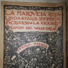 Libros de segunda mano: LA MARQUESA ROSALINDA, DE RAMÓN DEL VALLE-INCLÁN (1942). EDITORIAL RUA NUEVA. VOL XV.. Lote 29627986