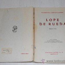Libros de segunda mano: TEATRO. COMEDIA EUFEMIA. COMEDIA ERMELINA. EL DELEITOSO (SIETE PASOS). LOPE DE RUEDA PX26798. Lote 30030804
