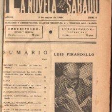 Libros de segunda mano: LA NOVELA DEL SABADO. NUM. 8. 9 DE MARZO 1940. 80 PAGINAS.. Lote 30468157