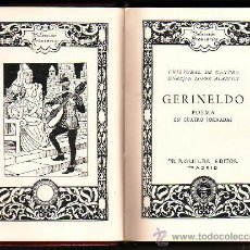 Libros de segunda mano: GERINELDO POEMA EN CUATRO JORNADAS. DE CASTRO, CRISTÓBAL Y LÓPEZ DE ALARCÓN, ENRIQUE.. Lote 30838078