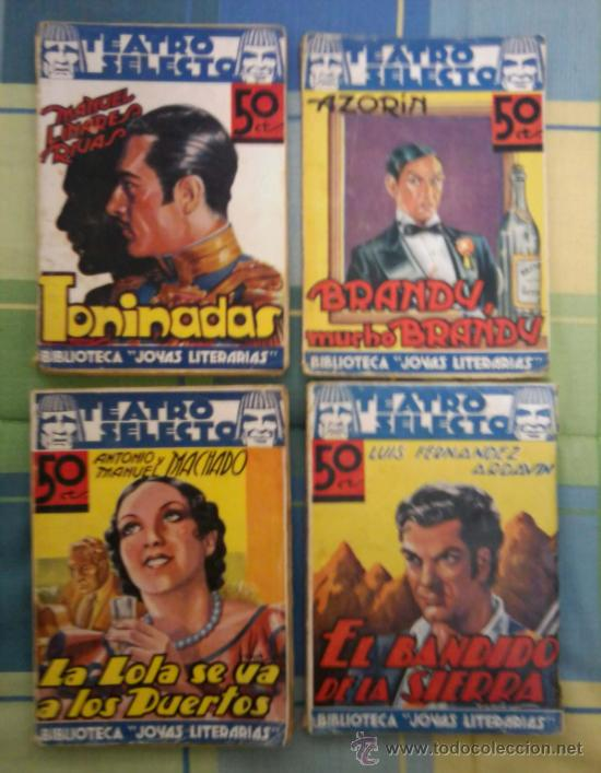 TEATRO SELECTO - LOTE DE 4 NOVELAS - BIBLIOTECA JOYAS LITERARIAS. (Libros de Segunda Mano (posteriores a 1936) - Literatura - Teatro)