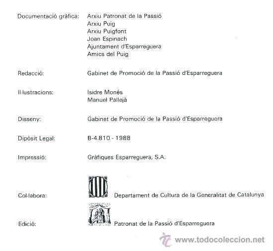 Libros de segunda mano: La Passio D'ESPARREGUERA (Catalán) - Foto 3 - 31341998