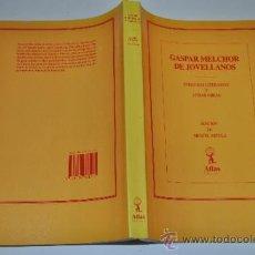 Libros de segunda mano: CENSURAS LITERARIAS Y OTRAS OBRAS. GASPAR MELCHOR DE JOVELLANOS .RM16509. Lote 31710310