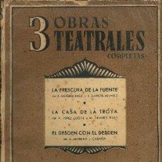 Libros de segunda mano - 3 OBRAS TEATRALES COMPLETAS - Teatro Selecto - 1941 - 32237646