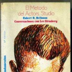 Libros de segunda mano: HETHMON : EL MÉTODO DEL ACTOR'S STUDIO -CONVERSACIONES CON LEE STRASBERG (FUNDAMENTOS, 1986). Lote 32953638